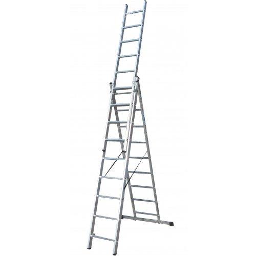 Лестница ELKOP VHR Trend 3x9 алюминиевая, 3 секции, 9 ступеней
