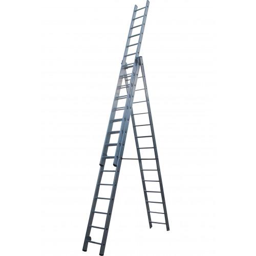 Лестница ELKOP VHR Profi 3x15 алюминиевая, 3 секции, 15 ступеней