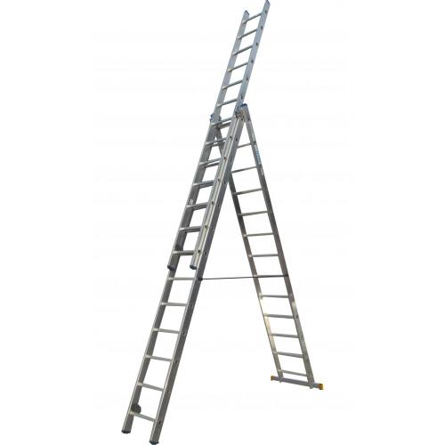 Лестница ELKOP VHR Profi 3x13 алюминиевая, 3 секции, 13 ступеней