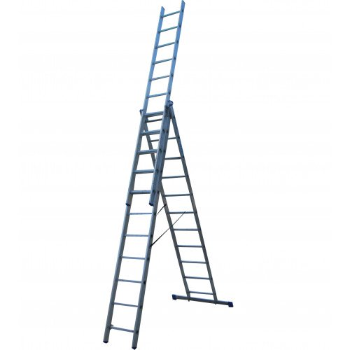 Лестница ELKOP VHR Hobby 3x11 алюминиевая, 3 секции, 11 ступеней