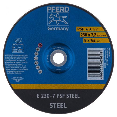 Круг зачистной Pferd 230x7,2x22 чугун, сталь