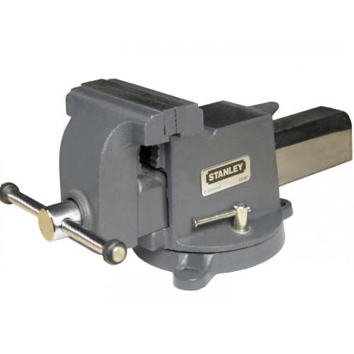 Тиски STANLEY MaxSteel слесарные поворотные 125 мм