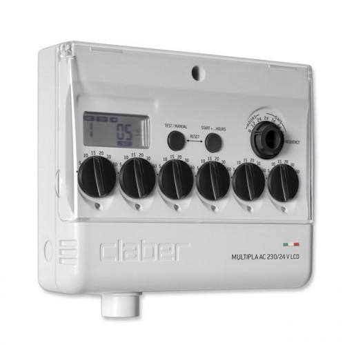 Таймер подачи воды Claber MULTIPLA AC 220/24 V LCD