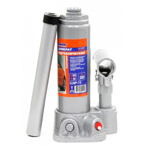 Домкрат бутылочный MIOL 80-010 гидравлический телескопический