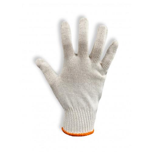 Перчатки защитные Vulkan 8410, белые с ПВХ точкой