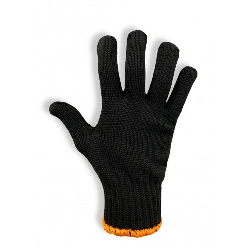 Перчатки защитные Vulkan 5611, черные с ПВХ точкой