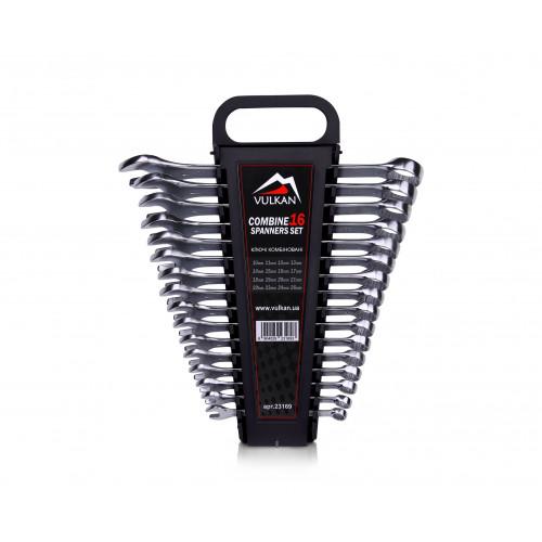 Набор комбинированных ключей Vulkan 10-26 мм, 16 шт в футляре