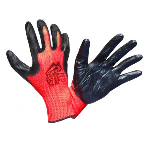 Перчатки защитные Vulkan SFG20007 Вампир, черно-красные