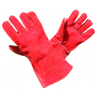 Перчатки краги сварочные Vulkan красные удлиненные