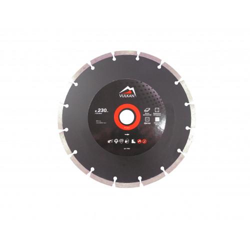 Диск алмазный Vulkan ZY-D230 230*22,23 мм бетон, кирпич