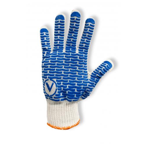 Перчатки рабочие Vulkan 8410, белые, ПВХ точки
