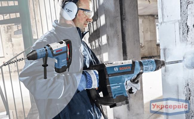 Купити дешево перфоратор BOSCH GBH 12-52 D для роботи