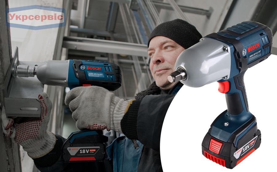 Купить недорого гайковерт Bosch GDS 18 V-LI HT Professional в Украине