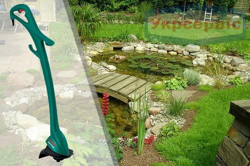 Купить выгодно садовый аккумуляторный триммер для травы Bosch Art 23 Easytrim