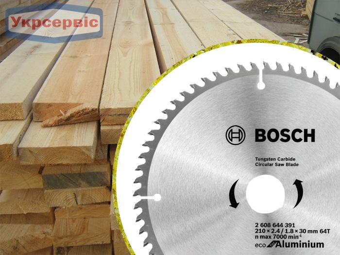 Купить недорогой пильный диск Bosch Eco for Aluminium 210х30мм Z64