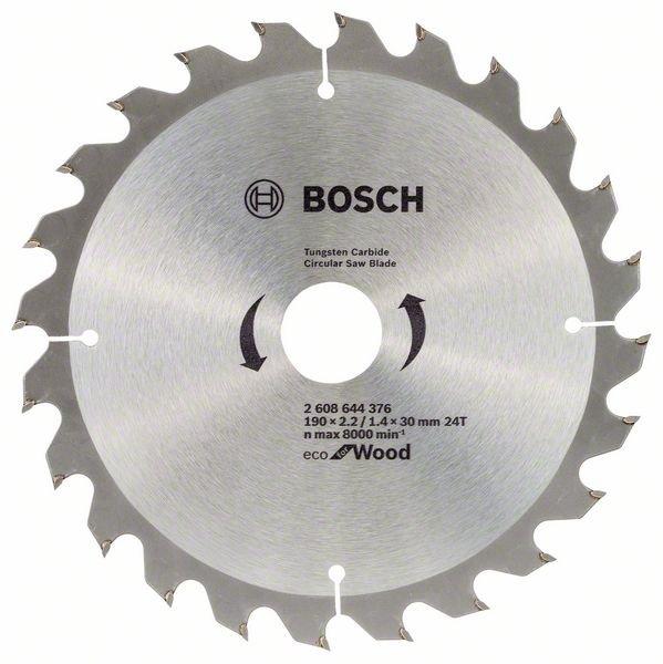 Купить недорогой пильный диск Bosch ЕСО for Wood 190х30мм Z24