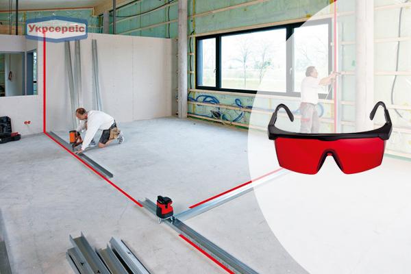 Купити недорого окуляри для червоного лазера BOSCH LR 2 Professional