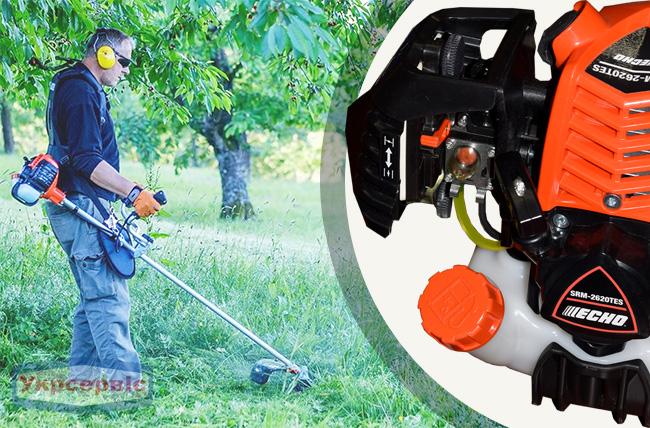 Купить выгодно садовую бензиновую мотокосу для травы ECHO SRM-2620TES/U