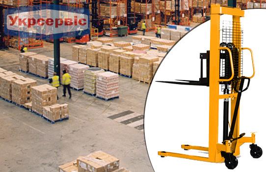 Купить гидравлический штабелер желтый Metier 1000кг 1.6м
