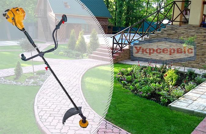 Купить выгодно садовую бензиновую мотокосу для травы Partner B 305 CBS