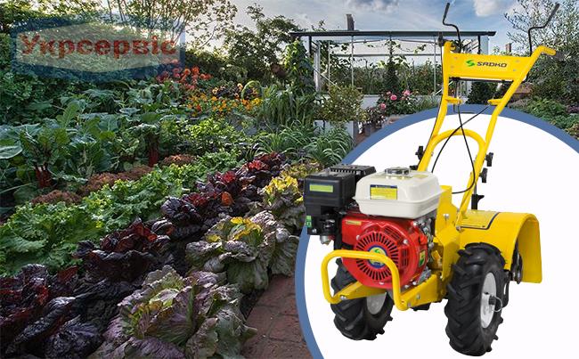 Купить недорогой бензиновый мотоблок для огорода Sadko М-400