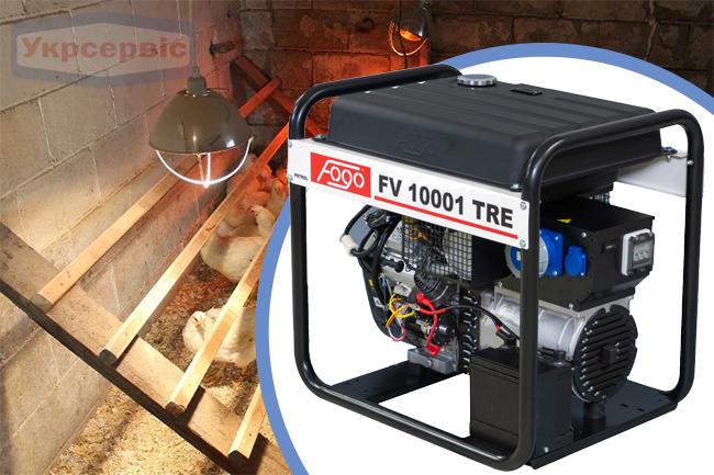 Купить недорогой бензиновый генератор FOGO FV 10001 TRE