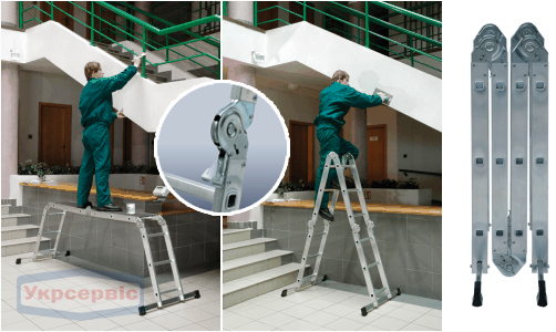 Купить недорого лестницу-трансформер для склада Elkop M 4x3 AL