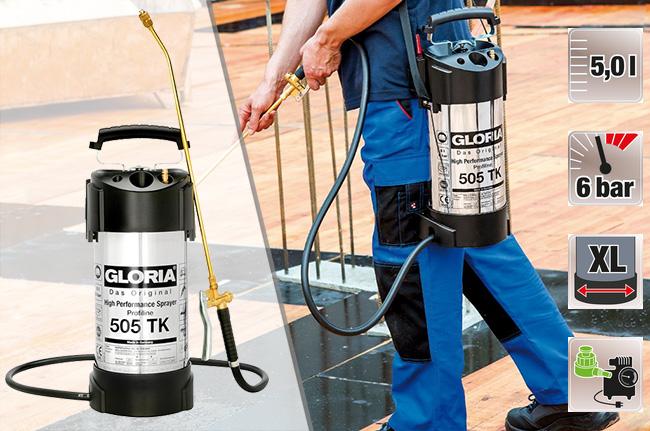 Купить недорого профессиональный распылитель для промышленности Gloria 505 ТK Profiline