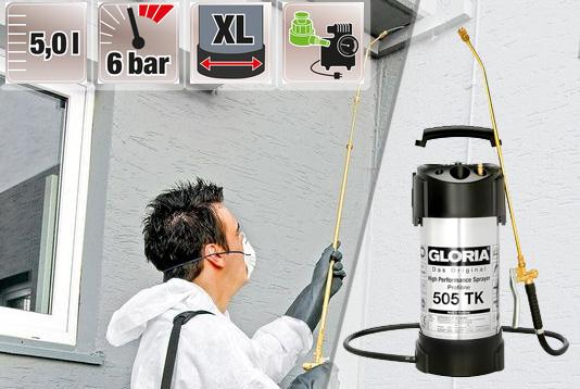 Купить недорогой профессиональный опрыскиватель для промышленности Gloria 505 ТK Profiline