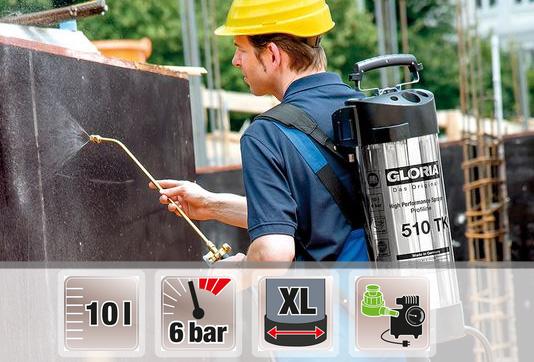 Купить выгодно профессиональный опрыскиватель Gloria 510 TK Profiline