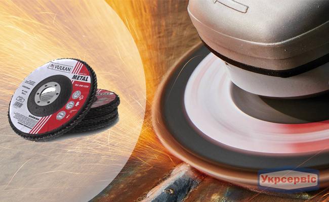 Купить недорого лепестковый шлифовальный круг Vulkan 125x22 A120