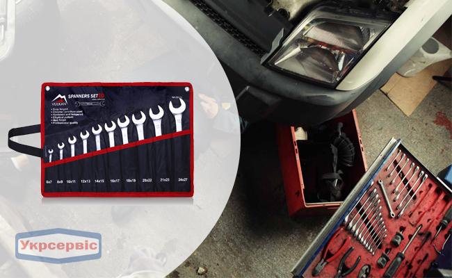 Купить недорого набор гаечных ключей Vulkan 6-27 мм