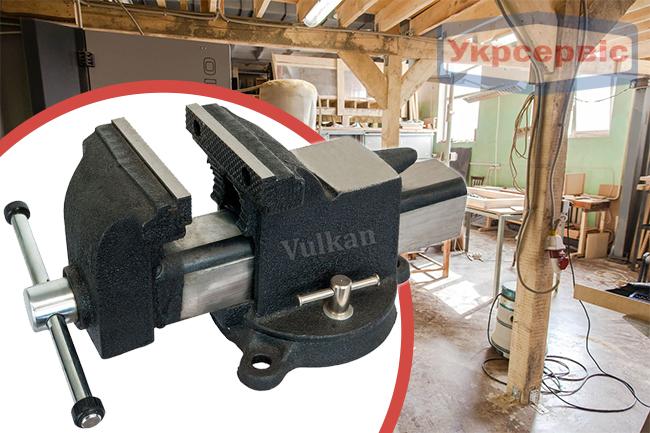 Купить недорого слесарные тиски Vulkan MPV1-125