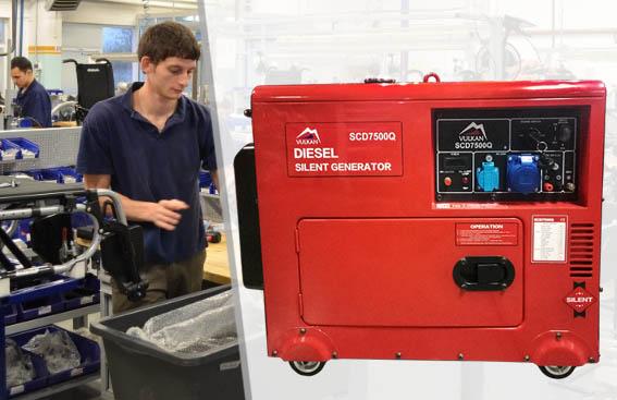 Купить недорогой дизельный генератор Vulkan SC7500Q