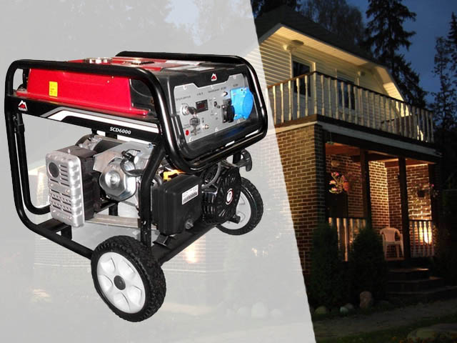 Купить недорогой бензиновый генератор тока Vulkan SCD6000