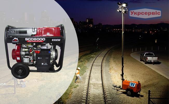 Купити вигідно дизельний генератор Vulkan SCD8000