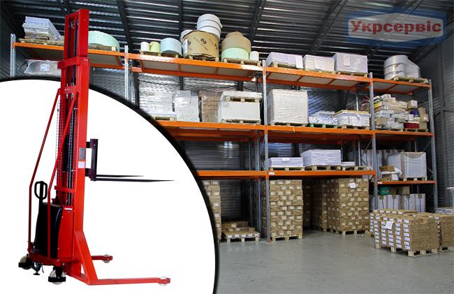 Купить недорого гидравлический штабелер Vulkan SDYG-1540 с электрическим приводом